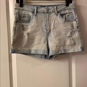 Aeropostale High Wasted MIDI Jean Shorts